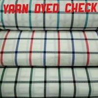 Shirting Yarn Dyed Check Fabric 58''