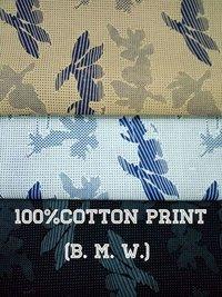 shirting  Cotton Printed Fabric  (BMW) 58''