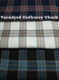 Shirting  Yarn Dyed Cadbury Check  Fabric 58''