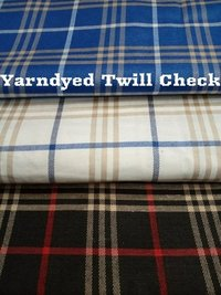 Shirting Yarn Dyed Twill Check Fabric 58''