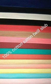 Shirting Satin Twill Slub fabric 58''