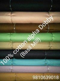 Shirting  Alpha Dobby Print  (Basil Mill) 58''
