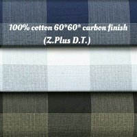 Shirting Fabric in  Carbon Finish (Z Plus D.T)