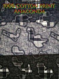 Shirting  Cotton Printed Fabric (Anaconda) 58''