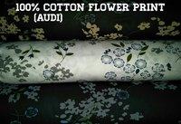Shirting Flower Printed Fabric (AUDI) 58''