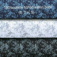 Shirting  Satin Printed Fabric  (D.T.H.S) 58''