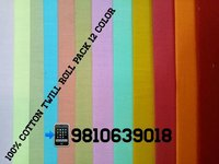 Shirting Twill Roll Pack Fabric (12 Colour) 58''
