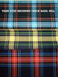 100% Cotton Yarn Dyed Brushing Check (Basil Mill) 58''
