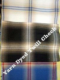 100% Cotton Yarn Dyed Twill Check 58''