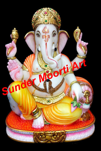 Ganpati Marble Moorti