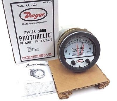 Dwyer 3000MR Photohelic,Switch/Gauge 0 to 3kpa