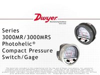 Dwyer 3000MR Photohelic Switch/Gauge 0 to 6 MM