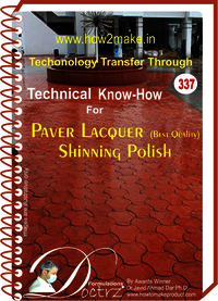 Paver Lacquer shining polish best quality formula