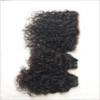 Natural Curly Bundles with matching  Frontal, 13x4 Transparent lace