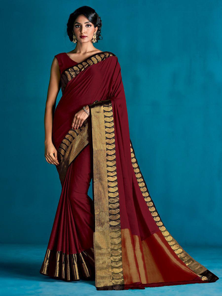 Aura Sahana Pure Cotton Silk Saree 9 Pcs