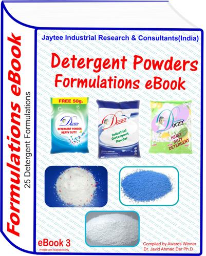 Detergent Powders Manufacturing Formulations eBook (eBook3)