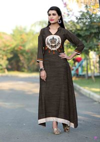 mittoo prachi khadi rayon kurti long dress