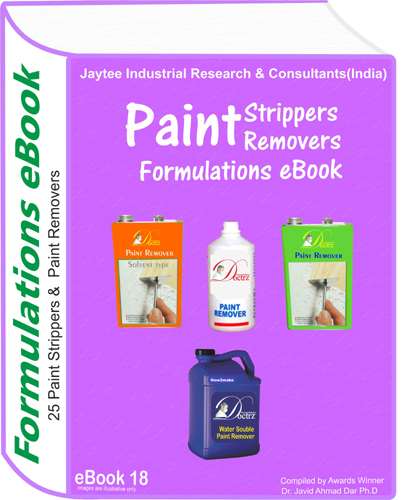 Paint Removers,Strippers production Formulations eBook(eBook18)