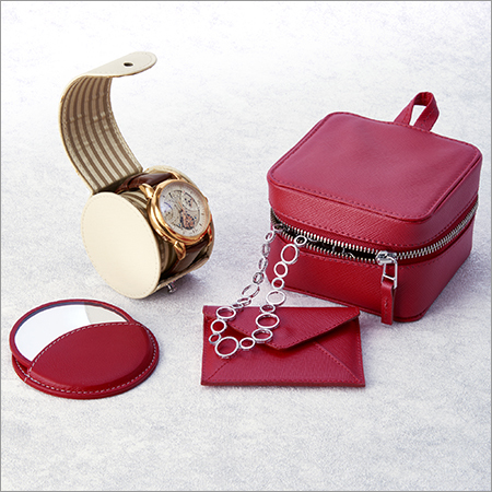 Luxury Jewelry Zip Pouch in Real Leather