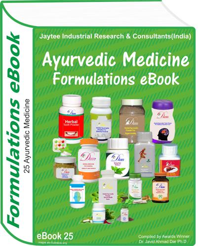 Ayurvedic Medicine Manufacturing Formulations eBook(eBook25)
