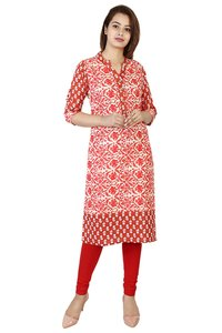 Cotton printed Straight kurti