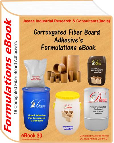 Corrugated Fiber Board Adhesives Formulations eBook(eBook30)