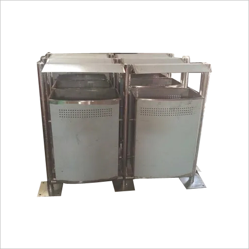 Square Pole Mounted Dustbin