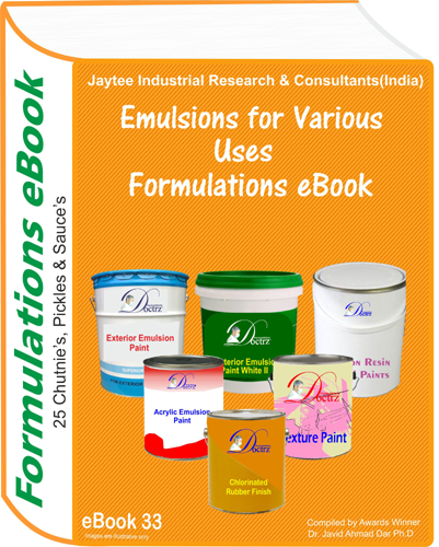 Emulsion for Various Uses Formulations eBook(eBook33)