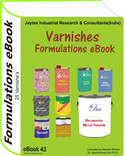 Varnishes Manufacturing Formulations eBook (eBook42)