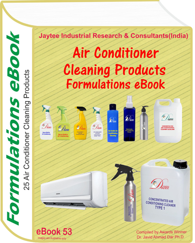 Air Conditioner Cleaning Products Formulations eBook(eBook53)