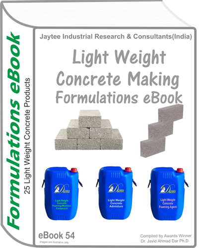 Light Weight Concrete Manufacturing Formulations eBook(eBook54)