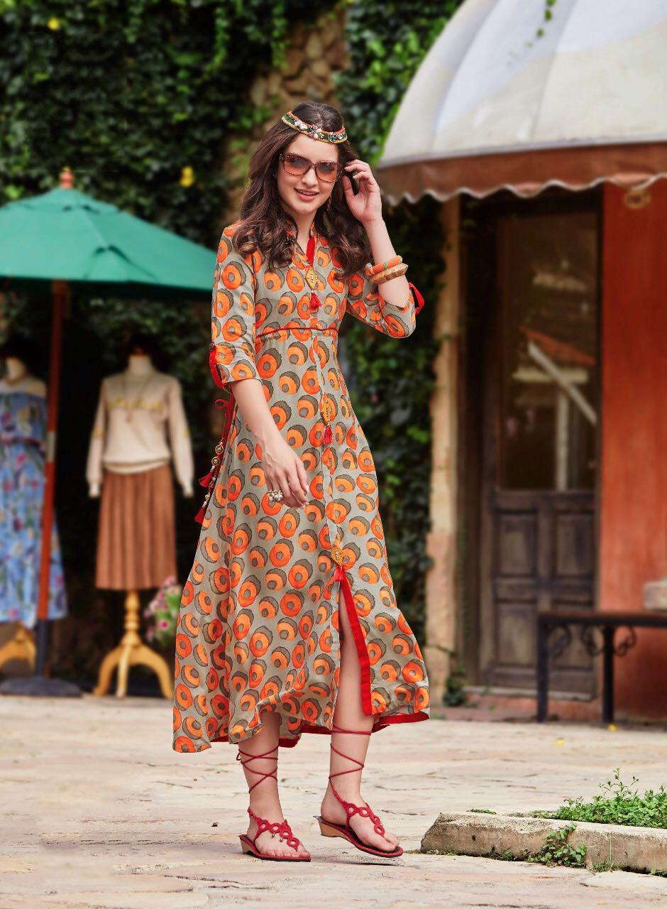 kajal style femina vol4 cotton Kurti rayon
