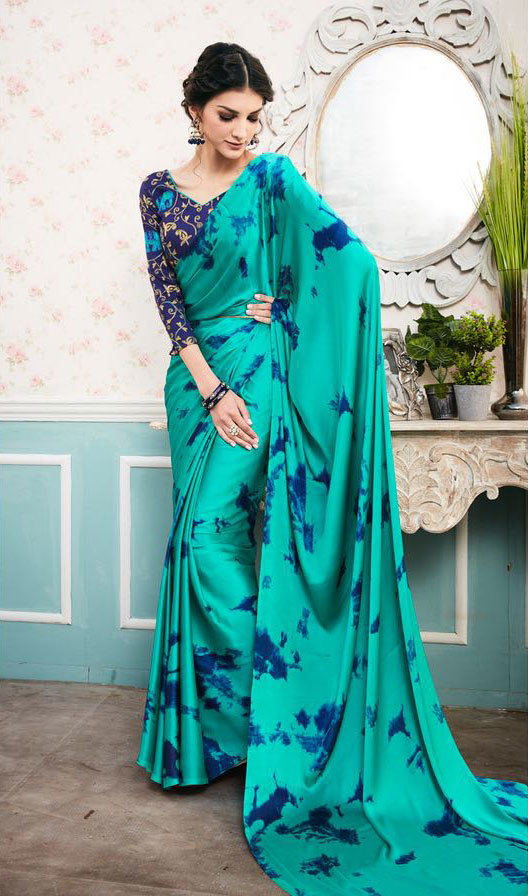 Satin Sybory Vol2 Digital Printed Embroidered Saree