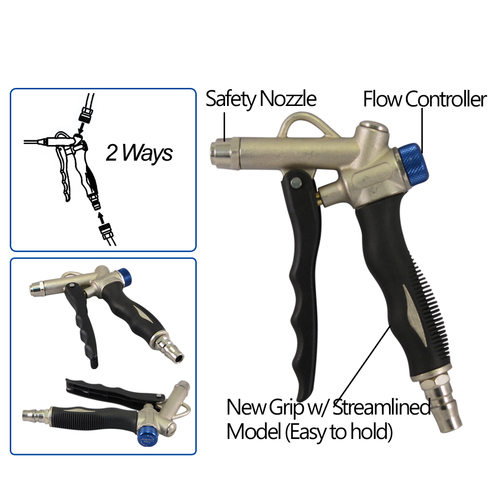 FIT TOOLS Made in Taiwan Air Adjustable Duster Blow Gun with Safety Nozzle