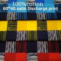 Shirting  Satin Discharge Printed Fabric 58''