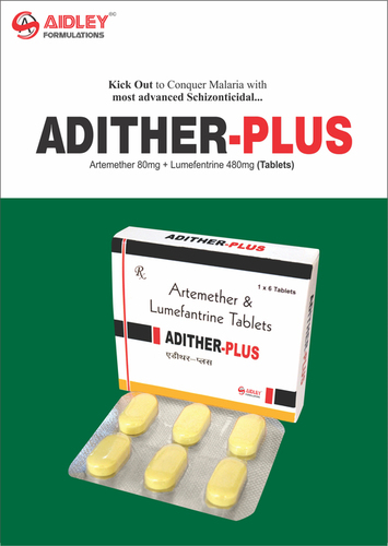 Artemether 80mg + Lumefentrine 480mg Tablets