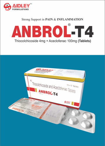 Thiocolchicoside 4mg + Aceclofenac 100mg Tablets