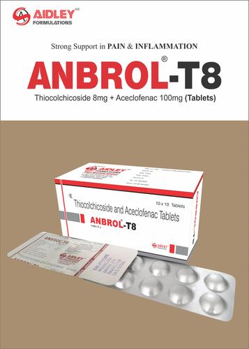 Thiocolchicoside 8mg + Aceclofenac 100mg Tablets