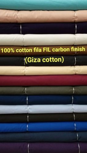 Shirting Fabric in Carbon Finish (Giza Cotton) 58""
