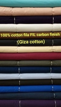 Shirting Fabric in Carbon Finish (Giza Cotton) 58