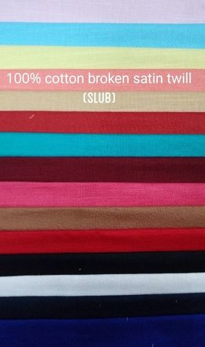 Shirting Broken Satin Twill (Slub) Fabric 58""