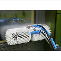 Solar Panel Cleaning With Roating Brushes