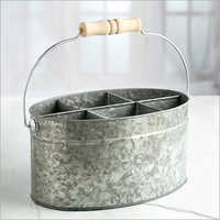 Galvanized 6 Pockets tility Bucket