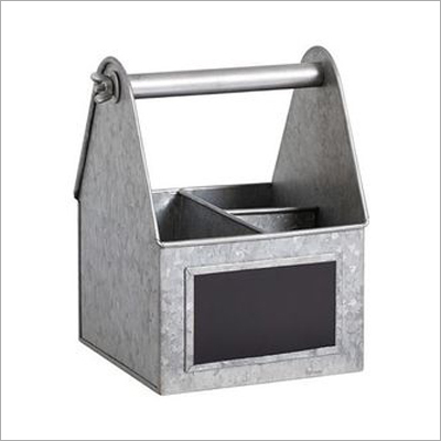 Galvanized 3 Pockets Utility Bucket