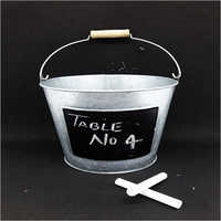 Galvanized Bucket with Chalk board