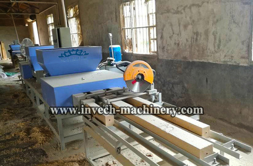 Six Head Compressed Sawdust Wood Block Machine
