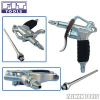 Two Way Aluminum Air Duster Blow Gun w-Flow Adjustable and 110mm Long Nozzle(Rubber Handle)