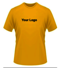 Customized Round neck Yellow T-Shirts