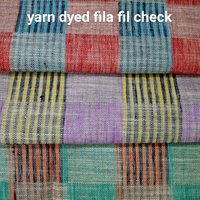 Shirting Yarn Dyed Fila Fil Check Fabricc 58