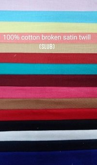 Shirting Broken Satin Twill (Slub)  Fabric 58